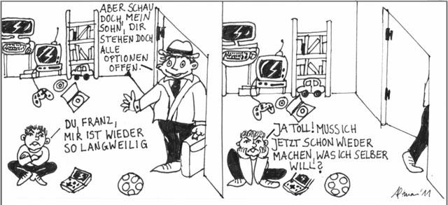 Cartoon Langeweile
