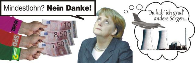 Mndestlohn Merkel Atomkraft Titel