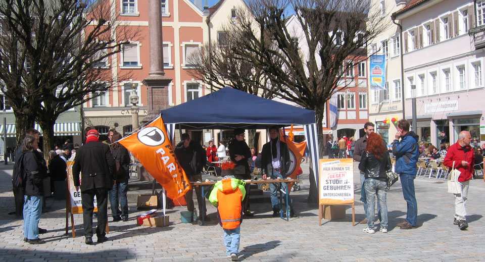 Piraten Infostand