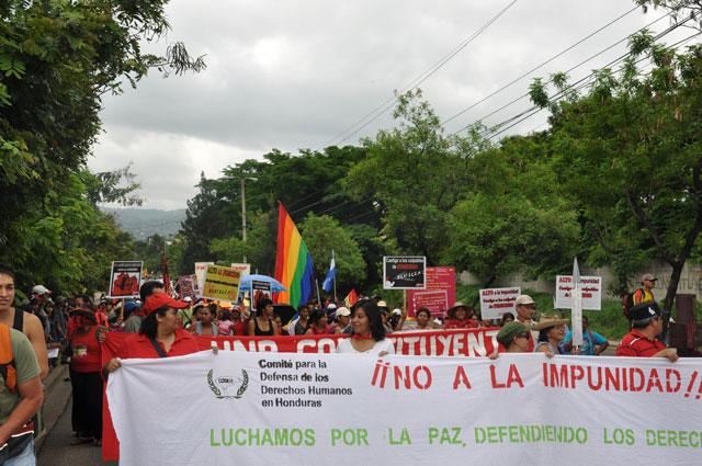 Mai Kundgebung 2010 Tequcigalpa