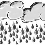 Wolken und Regen