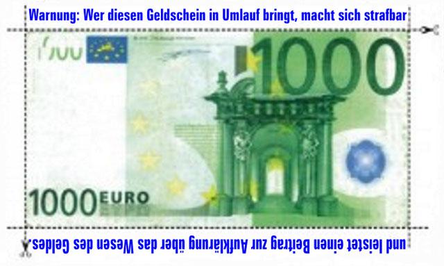 Geldschein 1000 Euro