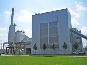 Biomasseheizkraftwerk in Augsburg