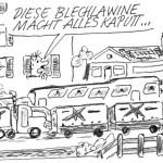 Cartoon Straßenausbaubeitrag Pfeffer