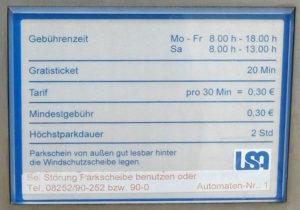 In Schrobenhausen: Gratisticket für 20 Minuten!