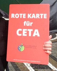 Rote Karte CETA