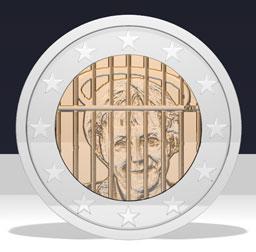 Merkel hinter Gitter