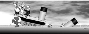 Euro Schiff sinkt