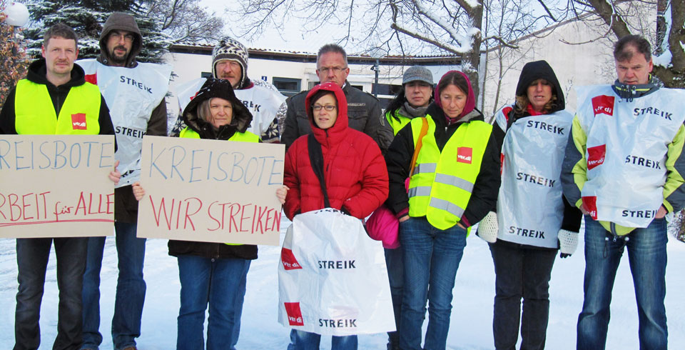 Kreisbote Streik Titel