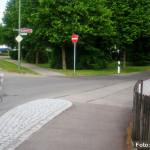 Foto: Peiting Einbahnstraße am Weidenweg