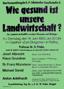 »Der Landwirt im Konflikt zwischen Ökologie und Ökonomie« – schon 1983 ein heiß diskutiertes Thema im Landkreis. Heute ist es aktueller denn je!