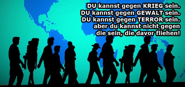 """""""Die Welt ist aus den Fugen geraten."""" Hans ten Feld, UNHCR-Vertreter für Deutschland (Grafik: Pixabay CC0, Text: Pro Asyl)"""