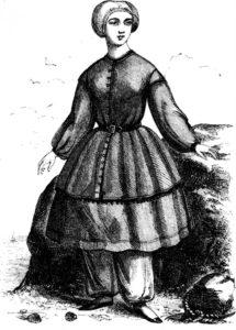 Karrikatur: Bademode 1858
